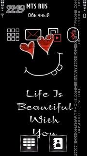 Life Is Beautiful 01 es el tema de pantalla