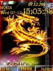 Скриншот темы 2012 Dragon Year