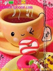Cute Happy Cup es el tema de pantalla