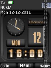 Dual Clock 05 theme screenshot
