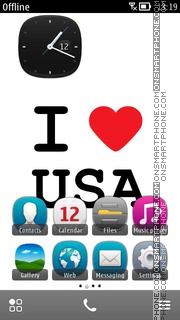 I Love Usa 01 theme screenshot