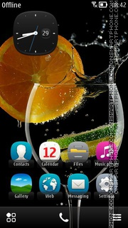 Cocktail with Lime theme screenshot