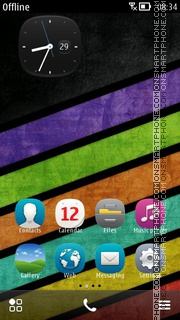 Capture d'écran Zapp thème