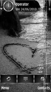 Romantic Beach theme screenshot