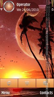 Orange Sea theme screenshot