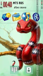 Red Snake 01 theme screenshot