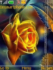 Yellow Rose Fractal es el tema de pantalla