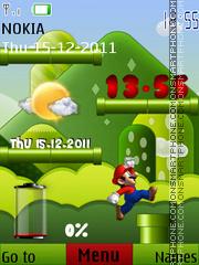 Mario Battery theme screenshot