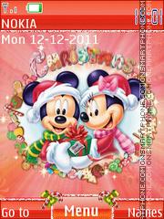 Merry Christmas Mickey theme screenshot