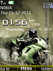 Скриншот темы Ninja Bike Clock