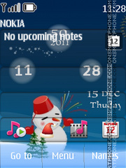 Christmas Clock 01 theme screenshot