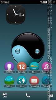 Yinyang tema screenshot