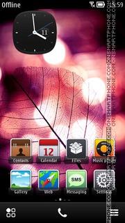 Capture d'écran Digital Leaf Theme thème
