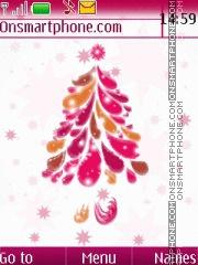 Скриншот темы Pink Christmas 01
