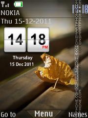 Скриншот темы Leaf 04