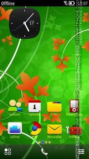 Capture d'écran Green Abstract 06 thème