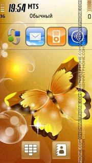 Golden Butterfly 01 theme screenshot