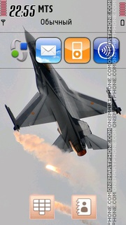 F-16 Jet theme screenshot