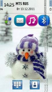 Snowman 07 theme screenshot