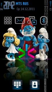 Скриншот темы Smurfs 03