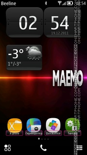 MAEMO S^Belle theme screenshot