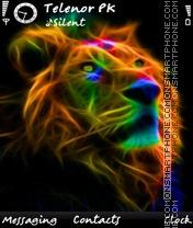 Neon Lion es el tema de pantalla