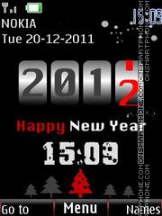 New Year's clock theme screenshot
