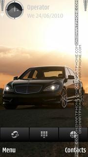 Mercedes black theme screenshot