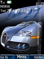 Bugatti Veyron 16 theme screenshot