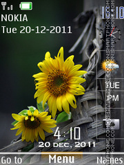 SunFlower Clock 03 theme screenshot