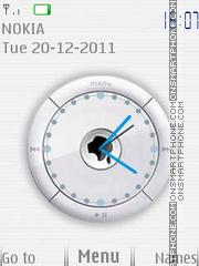 Apple Flash Clock es el tema de pantalla
