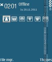 Simple Blue 01 theme screenshot