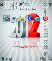 Happy New Year 2024 theme screenshot