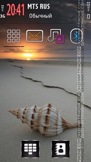 Sea Shell 01 theme screenshot