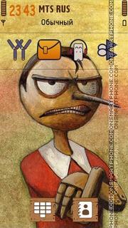Angry Pinocchio 01 theme screenshot