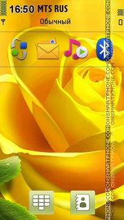 Yellow Rose 04 theme screenshot