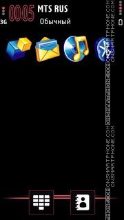 3d Icons Magentain Black theme screenshot