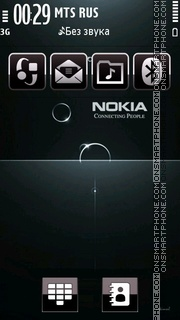 Nokia Black 06 theme screenshot