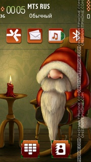 Lazy santa theme screenshot