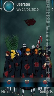 Akatsuki Member theme screenshot
