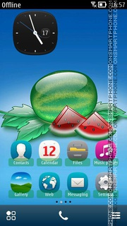 Aqua Watermelon 01 theme screenshot