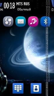 Скриншот темы Blue earth 01