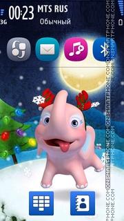 Christmas Elephant theme screenshot