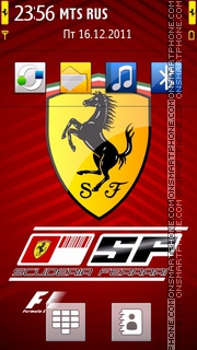 Ferrari 608 theme screenshot