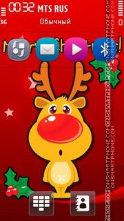 Deer Merry Christmas theme screenshot