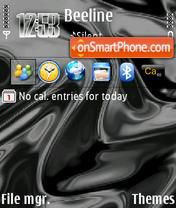 Скриншот темы Black Waves