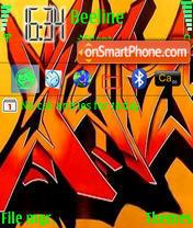 Скриншот темы Graffiti