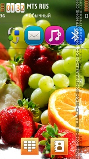 Fruits Hd theme screenshot