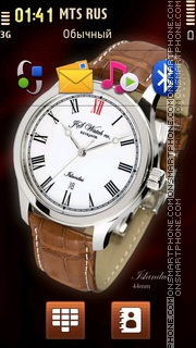 JS Watch co. Islandus es el tema de pantalla
