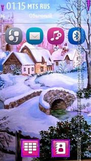 Winter Landscape HD theme screenshot